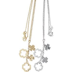Silberkette 925 rhodiniert oder vergoldet mit Kreuz Anhänger - Kette Silber Gold