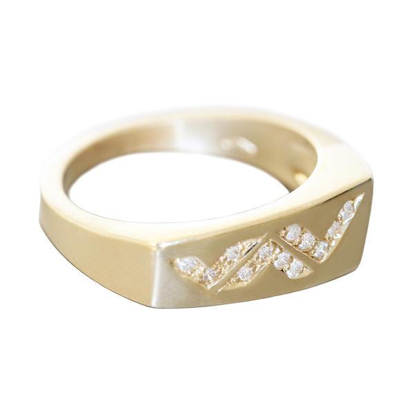Ring Gold 585 Diamant RW 56 Brillantring 0,15 ct Damenring 14 Kt. massiv Super Design