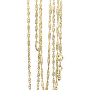 45 cm Goldkette - feine Singapurkette Gold 585 massiv - Halskette - Collier