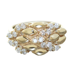 Ring Gold 585 Brillantring 0,50 ct. Brillanten breiter Damenring Goldring 14 Kt
