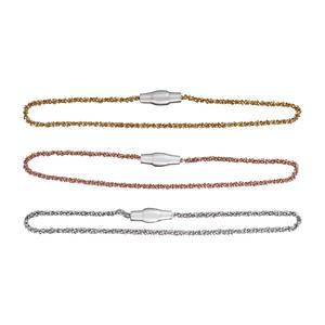 Feines Armband Silber 925 Rotgold vergoldet Silberarmband Magnetverschluss