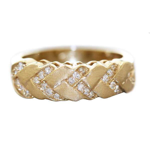 Ring Gold 585 mit 27 Brillanten Damen RW 56 Diamantring Goldring 14 Kt.