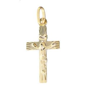 Kreuz Gold 333 Anhänger mit Korpus kleines Goldkreuz Goldanhänger 8 KT