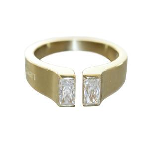 Ring Gold 585 mit Zirkonia Baguette Damen RW 54 Goldring Top Design 14 Karat