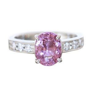 Ring Weißgold 585 Saphir Solitär u Brillanten 0,70 ct. klassischer Damenring Diamantring