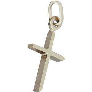 Massives kleines Kreuz Gelbgold 333 / 8 Kt. Anhänger Goldkreuz zur Taufe Goldanhänger