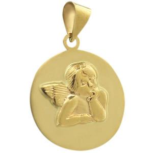 Anhänger Schutzengel Gold 585 - Goldanhänger Engel - Taufe - Kommunion Goldengel Raffael