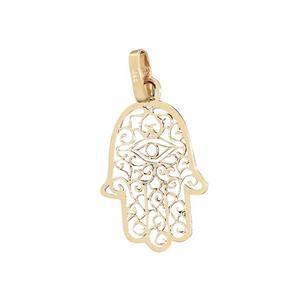 3 cm Hand der Fatima Anhänger Gold 585 Hamsa Gelbgold 14 Karat