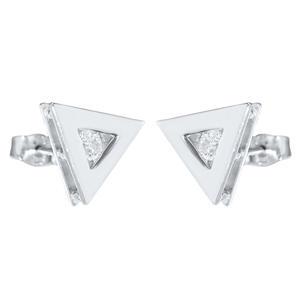 Ohrstecker Silber 925 Dreiecke m Zirkonias Coole Ohrringe Top Design Ohrschmuck