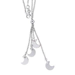 Silbermond Kette 925 Silberkette mit Anhänger Mond Kette Collier Halskette