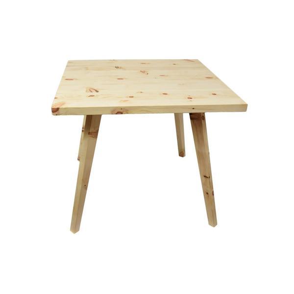 Eleganter quadratischer Massivholztisch 'Heidi' in Zirbe mit abnehmbaren Beinen - Handarbeit aus Österreich Zirbe