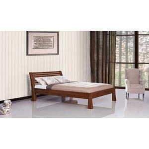 Einzel/Doppelbett 'Morning Light' - Buche Walnuss 160x200