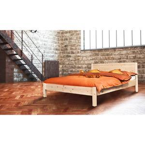 Klassisches Doppelbett 'Dream Base' - aus Eiche 140x200
