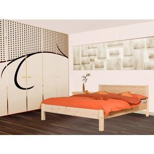 Klassisches Doppelbett 'Dream Base' - aus Kernbuche 160x200