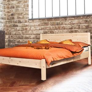 Klassisches Doppelbett 'Dream Base' - aus Astfichte 180x200