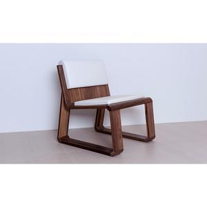 Hochwertiger Designerstuhl 'Homy Chair' eiche beigeauflage