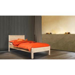 Klassisches Einzelbett 'Dream Base' - aus Kernbuche mit Rückenlehne 90/200
