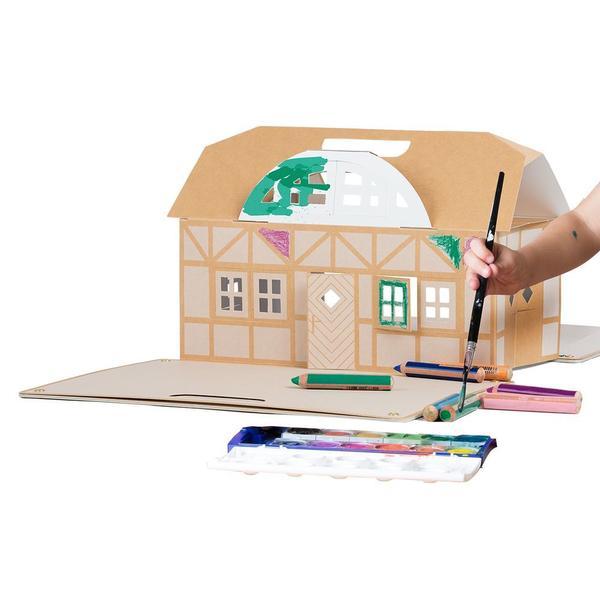 Spielkrippe aus Karton für Kinder ab 3 Jahren - zum selber basteln und spielen - das nachhaltige Spielzeug für Kinder - 100%...
