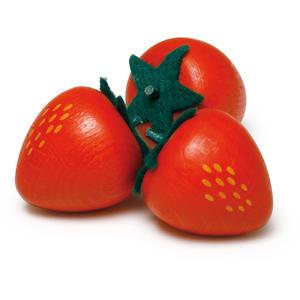 Erdbeere aus Holz - zum Spielen