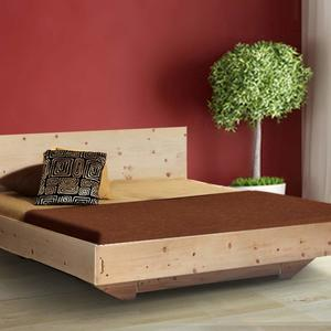Buchenbett metallfrei 'Straight & Comfy' - 120x200 Komforthoehe 43cm