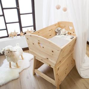 Mitwachsende Babywiege flexibel erweiterbar - aus Zirbenholz 'Sweet Sleep' - Handarbeit aus Deutschland