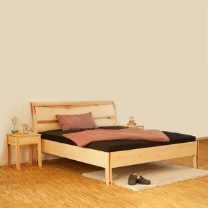 Einzel-/Doppelbett aus Massivholz - Handarbeit aus Deutschland Kernbuche geölt 200x200