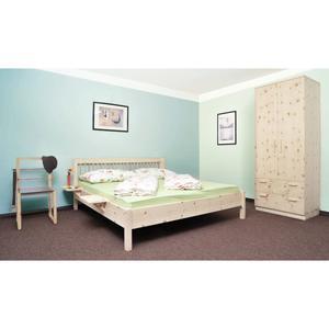 Massivholzbetten/Doppelbett aus Zirbel 'Romeo & Juliet' - Fichte gewachst 140x200