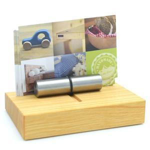 Edler Visitenkartenhalter aus Holz 10 x 6,2 x 5,4 cm - 'Holder' Kirschholz geölt - Handgemacht in Deutschland