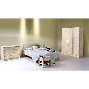 Klassischer Massivholzschrank 'Dream Base' 4tuerig/b206 zirbe_natur_roh