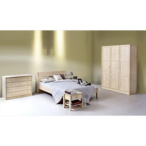 Klassischer Massivholzschrank 'Dream Base' 3tuerig/b154 Eiche_natur_gewachst