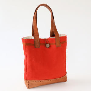 Große Schultertasche, Shopper Orange-Rot, Damen, pet Jewel