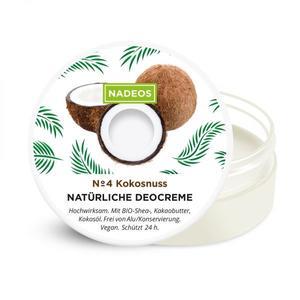 NADEOS Natürliche Deocreme Kokosnuss 40 g