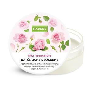 Natürliche Deocreme Rosenblüte