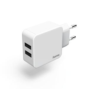 HAMA Ladegerät, 2-fach USB, 2.4 A