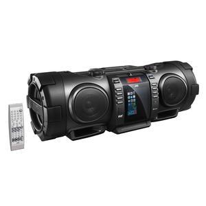 JVC RV-NB200BT | Tragbarer BoomBlaster mit Bluetooth Audio-Streaming, UKW RDS-Tuner, USB-Port und CD-Laufwerk