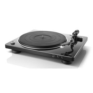 DENON DP-450USB schwarz | HiFi-Plattenspieler mit S-förmigem Tonarm und USB
