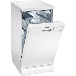 SIEMENS SR214W00CE | iQ100 Freistehender Geschirrspüler 45 cm Weiß | Energieeffizienzklasse A+