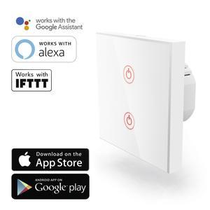 HAMA 176551 WiFi-Touch-Wandschalter, Unterputz, Weiß