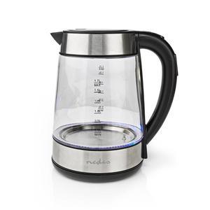 NEDIS KAWK320EGS | Wasserkocher | 1,7 l | 360°-Drehung | Glas