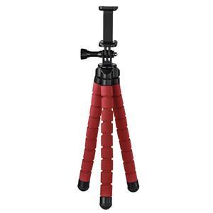 """HAMA 4617 Stativ """"Flex"""" für Smartphone und GoPro, 26 cm, Rot"""