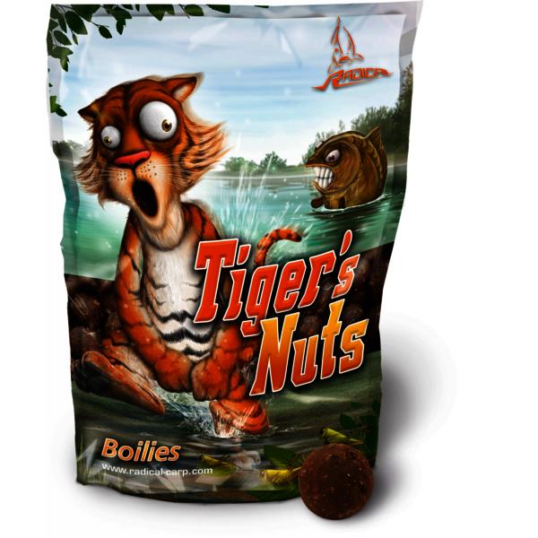 Radical Tigers Nuts Boilie 1kg 16mm