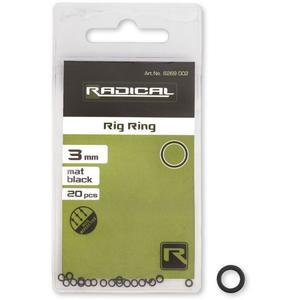 Radical Rig Ring Mat Black Non Reflective Ø3mm 20Stk