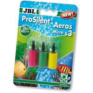 JBL ProSilent Aeras Micro S3 - Farbiges 3er Set Ausströmersteine für feine Luftblasen in Aquarien