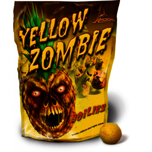 Radical Yellow Zombie Boilie 1kg 24mm