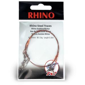 Rhino Stahlvorfach 7x7 0,5m 0,35mm/6kg