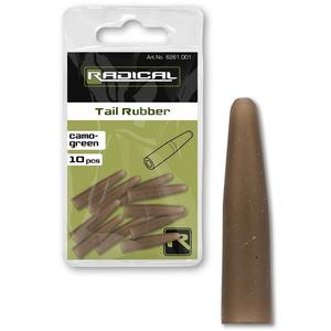 Radical Tail Rubber Camo-Green 10Stk