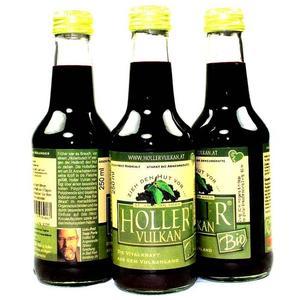 6 x 250 ml - Holler Vulkan Bio (AT-Bio-401) Holunder Vitalmix Vitalsaft