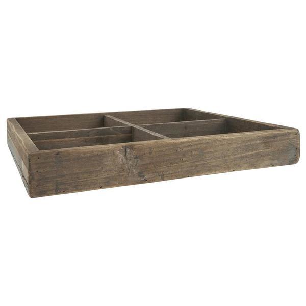 Kiste mit 4 Fächern