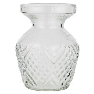 Vase mit breiter Kante aus Glas