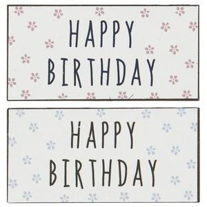 Magnet Happy Birthday 2 ass Farben